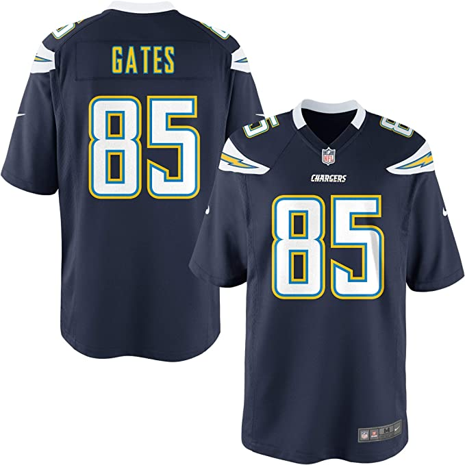 Nike Antonio Gates Los Angeles Chargers NFL Boys Youth 8-20 Navy Home On-Field Jersey