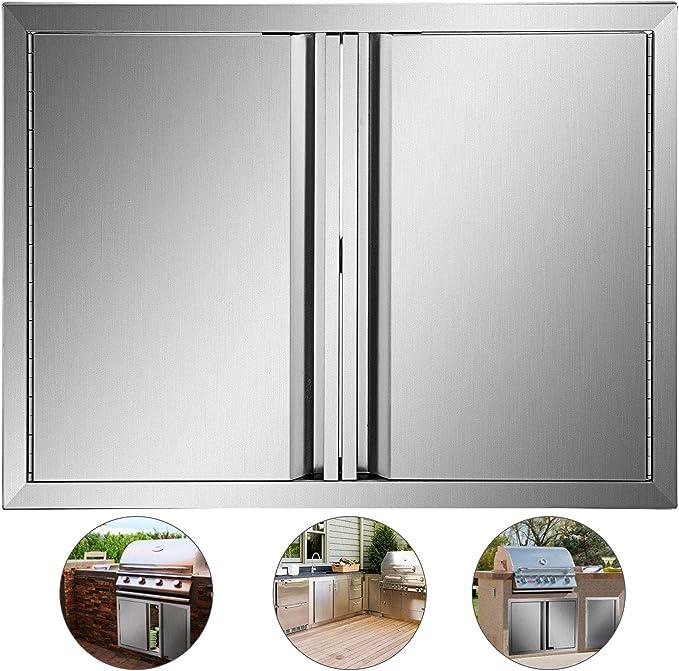 Mophorn Puertas de cocina para exteriores, 28 pulgadas de ancho x ...
