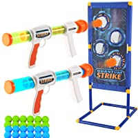 JOYIN Foam Ball Popper Gun Toy Set with Standing Shooting Target, Foam Ball Popper Air Toy Guns, 24 Foam Balls, Shooting Game for Kids Indoor Play