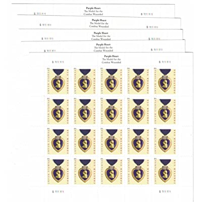 USPS Purple Heart Forever Stamps - 100 Stamps (5 Sheets of 20): Office Products