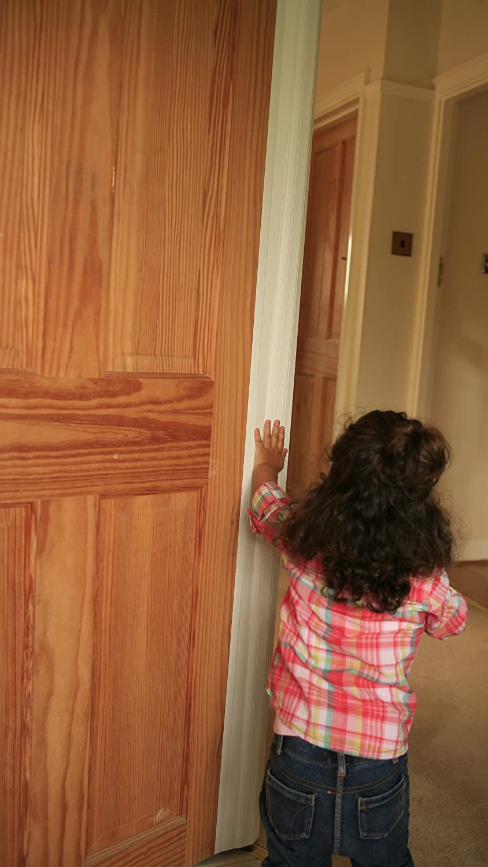 Finger Clear 10x FULL HEIGHT Baby /& Child Home Nursery School Restaurant Nursing Care Home Door Edge Finger Guard Hinge Safety Shield Protector WHITE