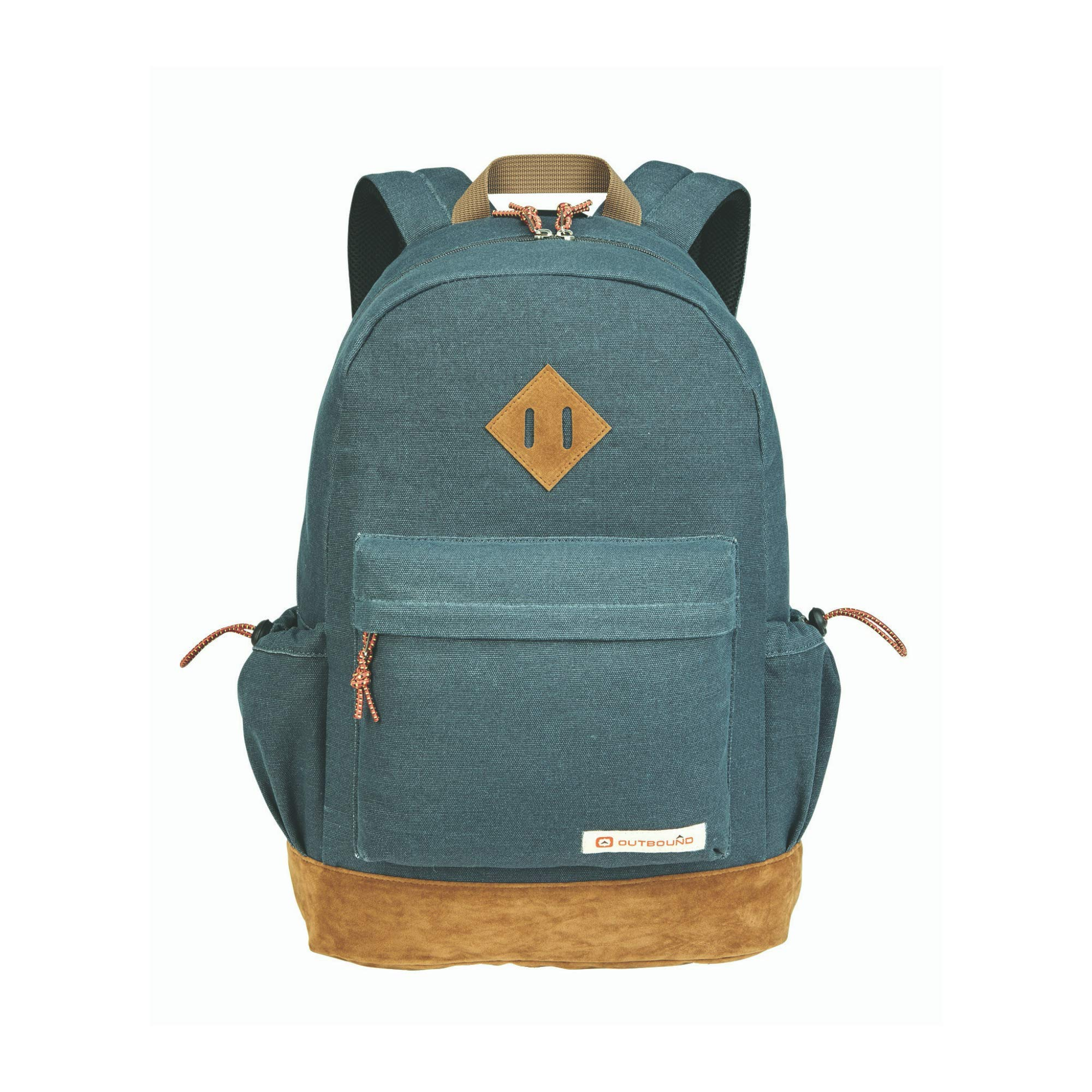 Outbound Canvas Backpack | School Backpack for Boys and Girls | Perfect for Kids, Students or Everyday Use | 17.7 Inch | Gray by OUTBOUND