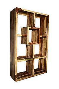 Kingwood Bookcase in Sheesham Wood with Teak Finish (Natural Finish) - Size 45 x 16 x 72 inch