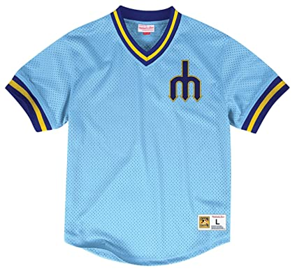 half off 680a3 6598f Amazon.com : Mitchell & Ness Seattle Mariners MLB Men's Team ...