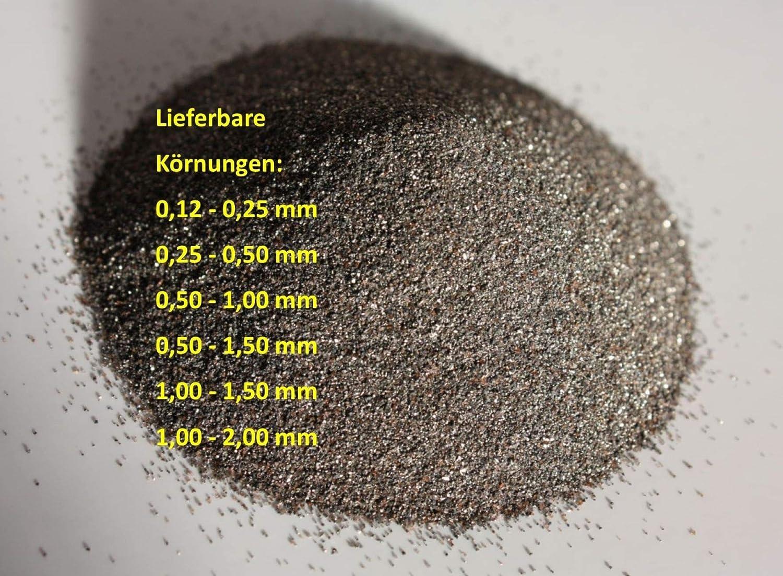Normalkorund FeSi Strahlgut Sandstrahlen Strahlmittel Strahlsand Korund 1 kg