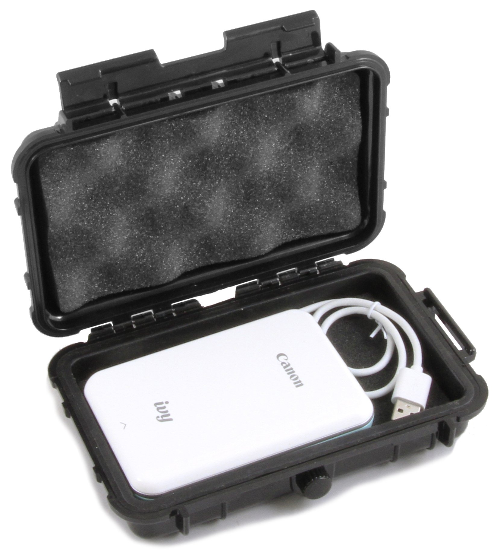 CASEMATIX Waterproof Mini Photo Printer Case Fits Canon Ivy Printer and Charge Cable