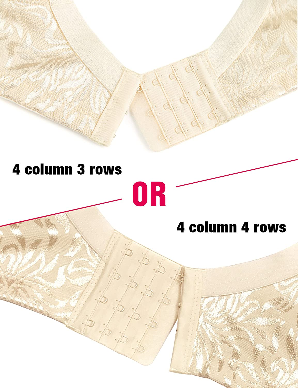 fdc8c6d635a15 Wingslove Womens Full Coverage Non Padded Comfort Strap Minimizer Wire-Free  Bra