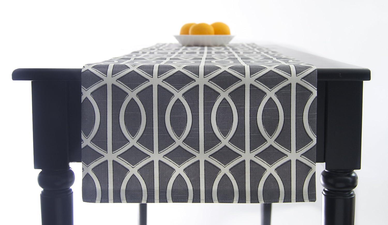 Modern Grey Table Runner 120 Inch Long Grey And White Table Runner Grey  Bridges: Amazon.ca: Home U0026 Kitchen
