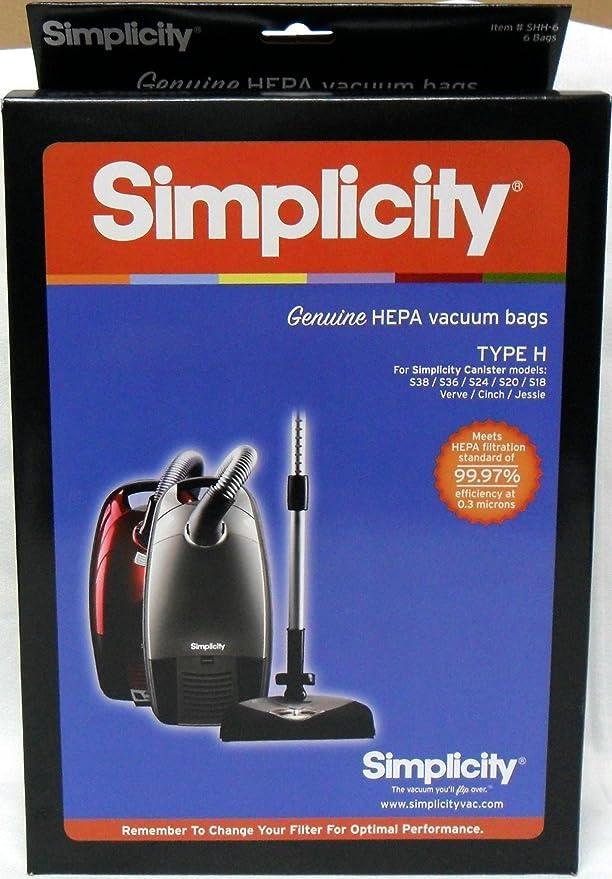 Amazon.com: Simplicity bolsas para aspiradoras HEPA tipo H ...