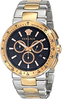 Versace Men s VFG100014 MYSTIQUE SPORT Two-Tone Stainless Steel Watch 3f832ddea72