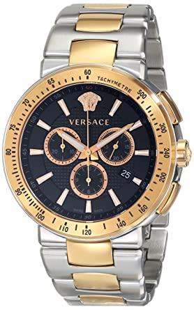 Versace Mens VFG100014 MYSTIQUE SPORT Two-Tone Stainless Steel Watch