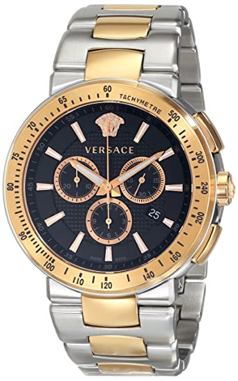 Amazon.com: Versace Mens VFG100014 MYSTIQUE SPORT Two-Tone Stainless Steel Watch: Watches