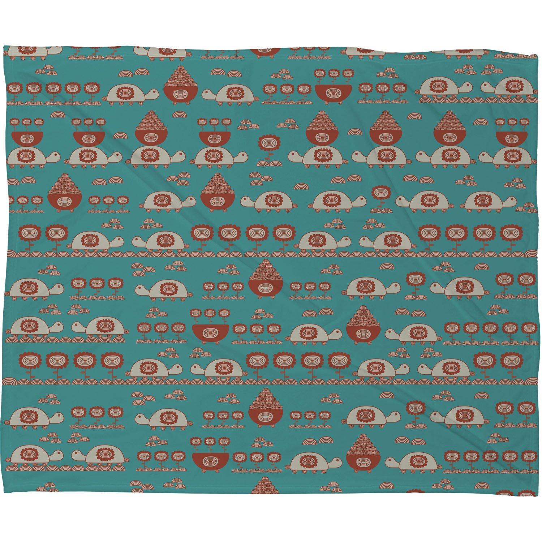 Deny Designs Gabriela Larios Turtle Garden Fleece Throw Blanket 50 x 60