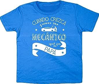Hippowarehouse Cuando Crezca Quiero Ser Mecánico Igual Que Mi Papá Camiseta Manga Corta niños niñas Unisex: Amazon.es: Ropa y accesorios