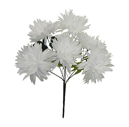 Amazon 13 Fuji Mum Bush Artificial Silk Wedding Craft Flowers