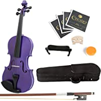 Mendini 4/4 MV-Purple Solid Wood Violin with Hard Case, Shoulder Rest, Bow, Rosin and Extra Strings (Full Size)