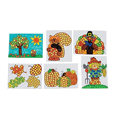 Fun Express - Fall Time Dot Marker Activity Sheets for Fall - Stationery - Activity Books - Coloring Books - Fall - 50 Pieces: Toys & Games