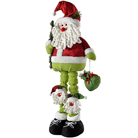 werchristmas free standing father christmas santa claus decoration with extendable legs 75 cm large