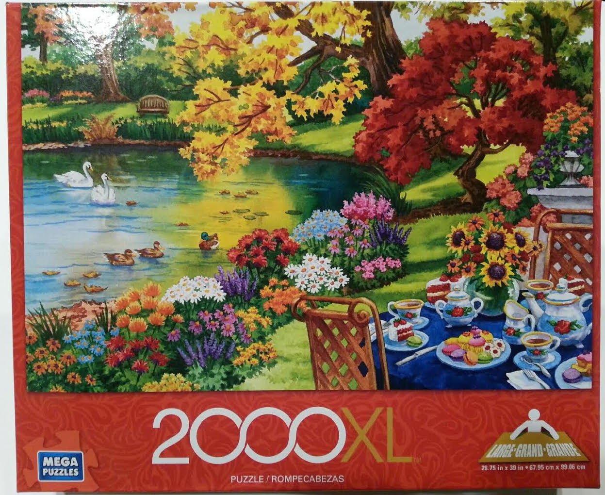 Mega Puzzles XL Autumn Garden Tea 2000pc Puzzle Mega Brands