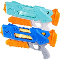 FiGoal Large Water Gun for Kids Adults, 2 PCS Super Squirt Gun with 3 Nozzles Shoot Up to 12 Meters Hold Up to 600 mL…