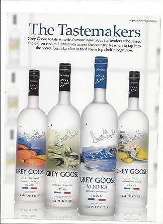 Amazon.com: MAGAZINE PAPER AD For Grey Goose Vodka The Tastemakers 4 ...