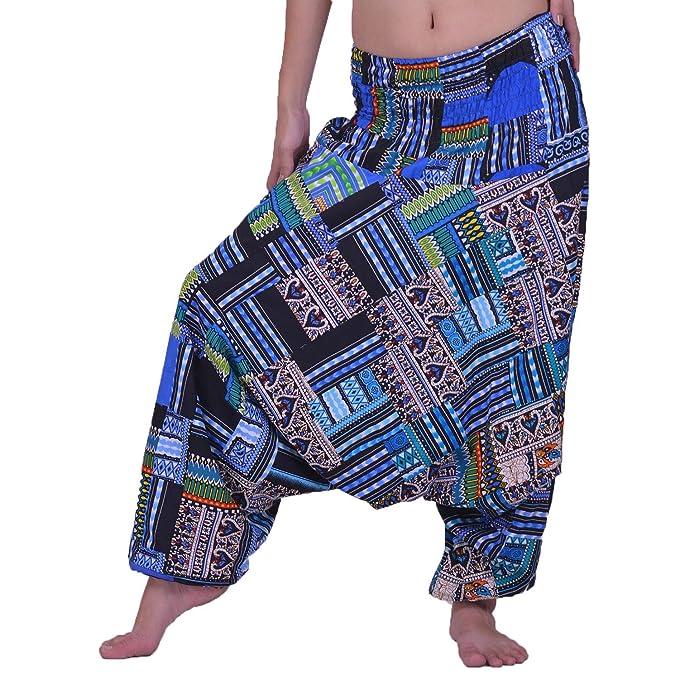 Lofbaz Unisex Labor de Retazos Hippie Harén Casual Holgados Yoga Pantalones de Colores