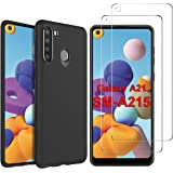 Gesma for Samsung Galaxy A21 Case and Screen Protector (USA Version) [2 Screen Protectors+1 Case] Full Coverage Case…