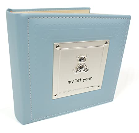 Photo Album My First Year Blue Baby Boy Photo Album 77802 Amazon