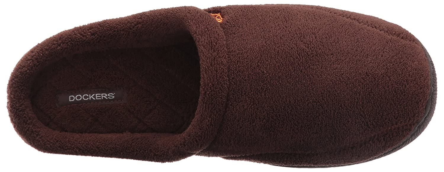 Dockers Men's Paul Microterry Clog Scuff Slipper, Brown, Medium/8 M US
