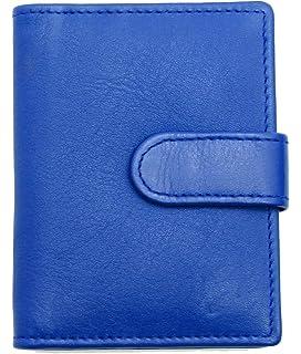 021f70a1f5775 RAS Echtes Weiches Leder Kreditkartenhalter Brieftasche - 20 Klare  Plastiktaschen - 4 Weitere Kartensteckplätze - Knopfverschluss