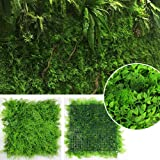 """ULAND 20""""x20""""/pc Artificial Mixed Vine and Fern Mat UV Stable Faux Outdoor Boxwood Hedge Mat for Decorative Spaces, Office Buildings, Construction Sites Covering (Pack of 6pcs)"""