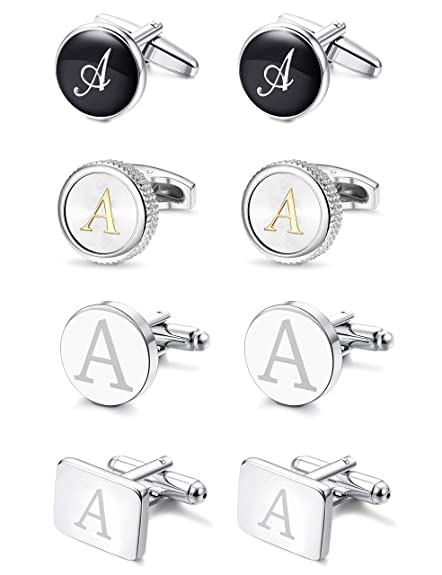 Jewelry & Watches Letter L Alphabet Initials Cufflink Set Gold Or Silver Fashion Jewelry