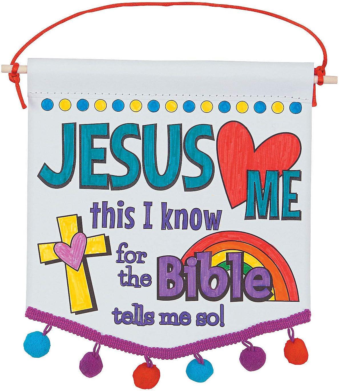 38 Pastel Jesus Loves Me Print Grosgrain Ribbon Sunday School Easter Bows Church He is Risen Rainbow Bible Study Holy Cross
