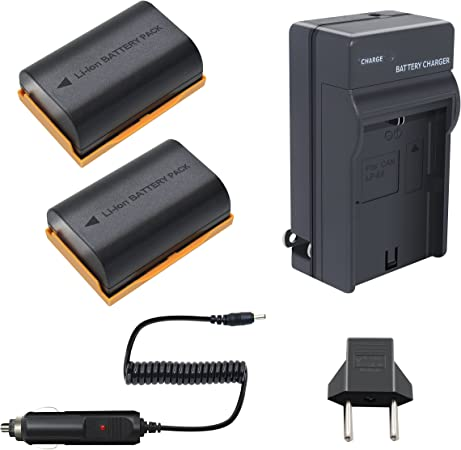 2 x LP-E6 Li-ion Battery Charger For Canon EOS 6D 7D 60D 60Da 70D 80D DSLR 5DS