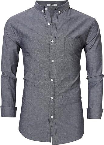 Camisa Oxford de manga larga para hombre, corte regular, para hombre - - Small: Amazon.es: Ropa y accesorios