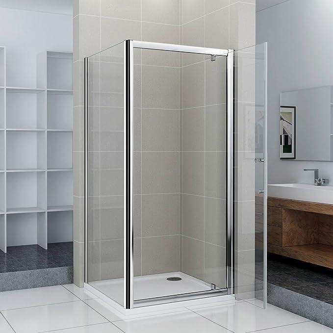 90 x 80 x 185 cm Mampara de ducha colgante Puerta ducha pared ...