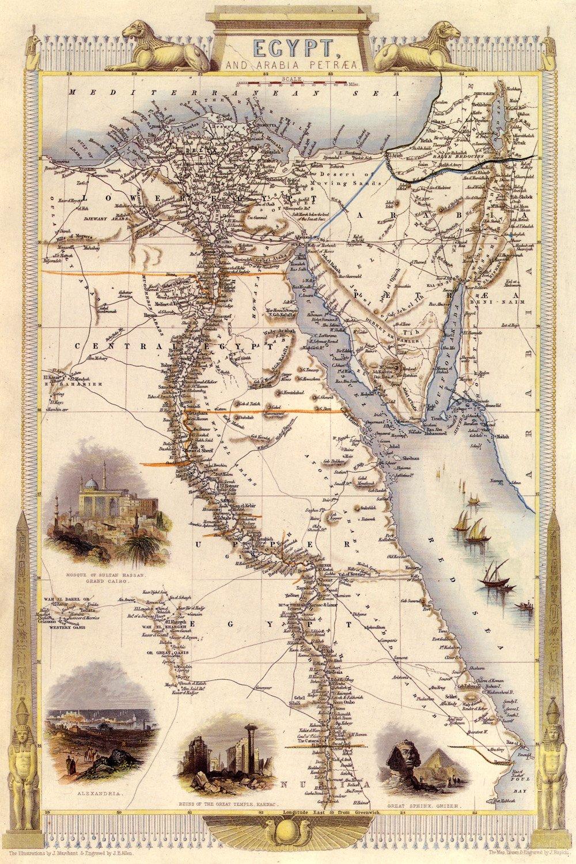 Amazon.com: Map of the Egypt and the Sinai Peninsula ...