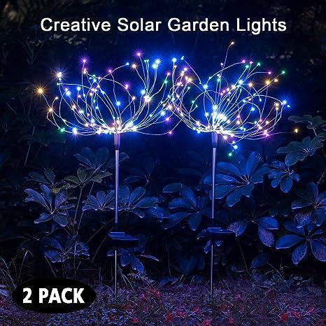 Amazon.com: Mopha - Luces solares decorativas para jardín y ...