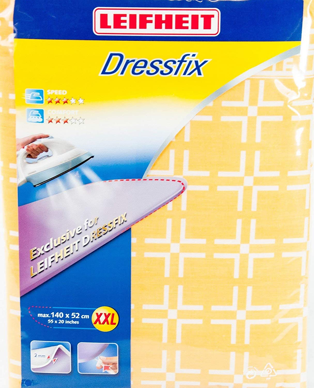Assorted Colors Leifheit 72319 XXL Replacement Ironing Table Cover for Dressfix Ironing Table