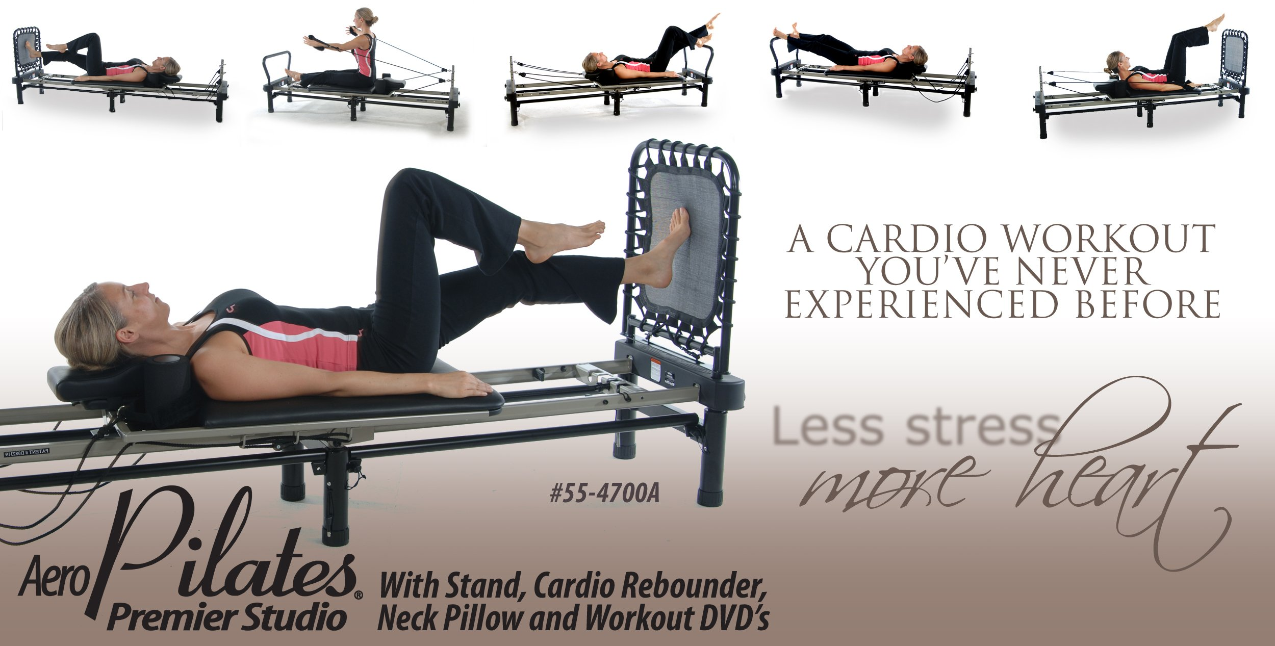 Stamina AeroPilates 700 Premier Reformer with Stand, Cardio Rebounder, Neck Pillow and DVDs by Stamina (Image #7)