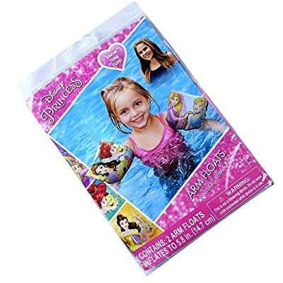 Princess Girls Summer Pool Floats Inflatable Arm Floaties with Repair Kit: Toys & Games