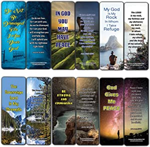 Stand Strong in Uncertain Times Bible Bookmarks (12-Pack) - Collection of Bible Verses
