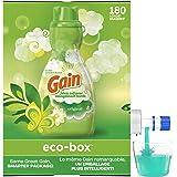 Gain Eco-box Liquid Laundry Fabric Softener (Fabric Conditioner), Original Scent, 180 Loads, 3.1 L