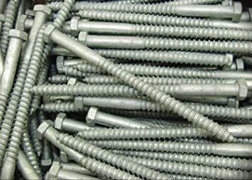 Lag Bolt Screw Hot Dipped Galvanized A307 Alloy Steel 5//8 x 10 Qty 25