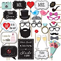 Party Propz Bachelorette Photobooth Props (Set of 31) for Wedding,Bride to Be Photo Props