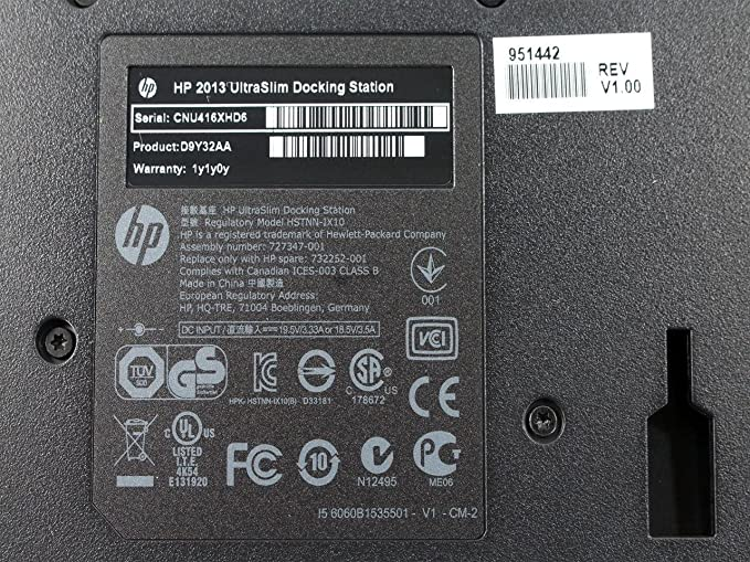 HP D9Y32AA#ABA UltraSlim Dock 2013 Docking Station D9Y32