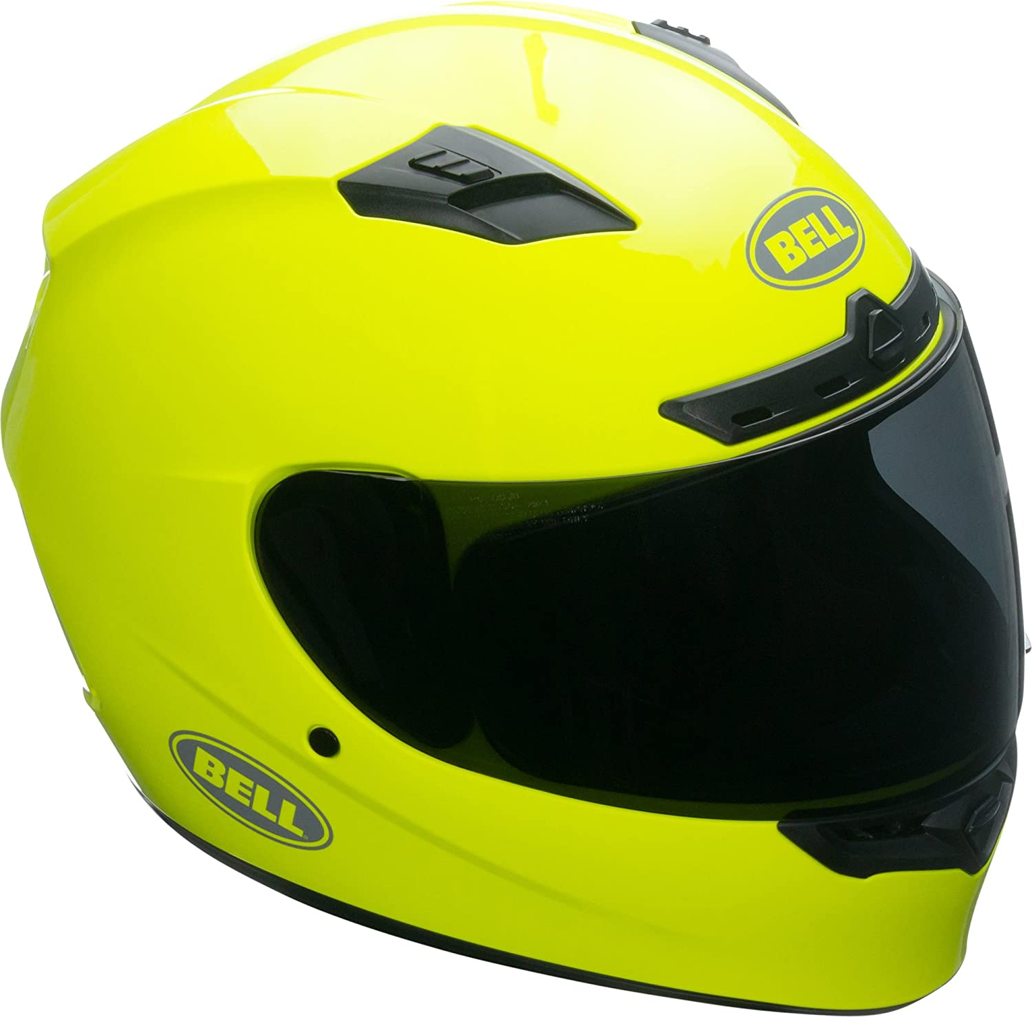 Bell Qualifier DLX Full-Face Motorcycle Helmet (Gloss Hi-Viz Yellow, X-Large)