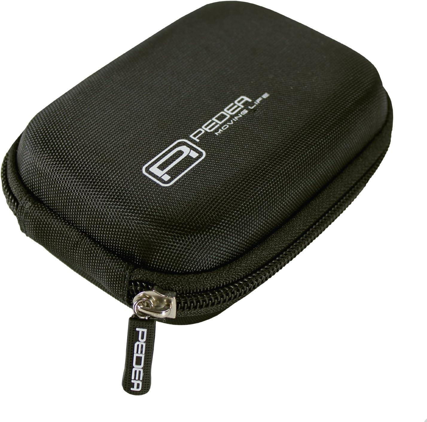 PEDEA Hardcase mit Displayschutzfolie f/ür Canon Ixus 1100 HS//115 HS//220 HS//230 HS//240 HS//510 schwarz
