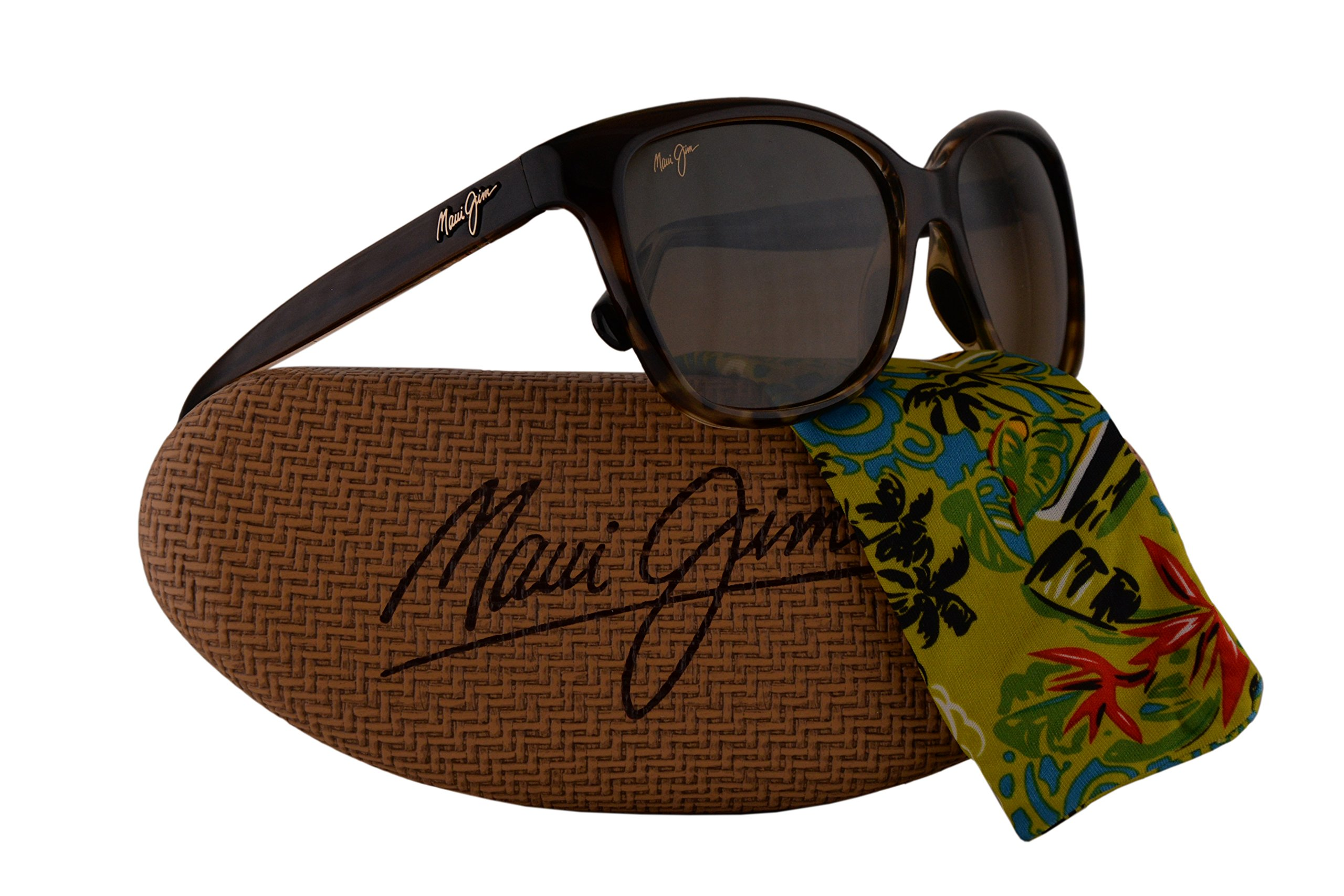 Maui Jim Starfish Sunglasses Translucent Chocolate Tortoise w/Polarized Bronze Lens MJ744-01T