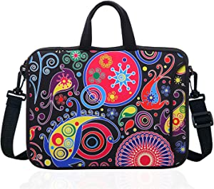 "17.3-Inch Laptop Shoulder Sleeve Bag Case With Handle For 17 17.3"" Acer Dell Hp Classic Colorful"